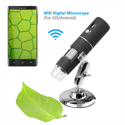 1000X Zoom WIfi Wireless USB Microscope Magnifier Endoscope Camera w/Stand Set