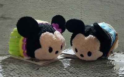 Mini Tsum Tsums Aloha Hawaii Exclusive Mickey & Minnie Mouse Disney Store BNWT