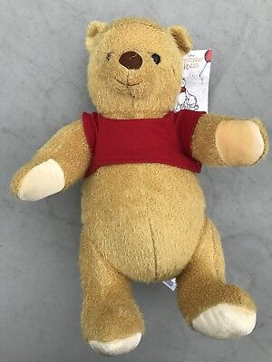Disney Store Christopher Robin Winnie The Pooh Bear Plush Toy Medium Sold Out