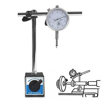 Dial Test Indicator DTI Gauge+Magnetic Base Stand Metric Precision Clock Gauge