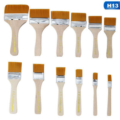 Pack of 5/12 Disposable Paint Brushes Painting Brush All Size 10-78mm Yellow UK