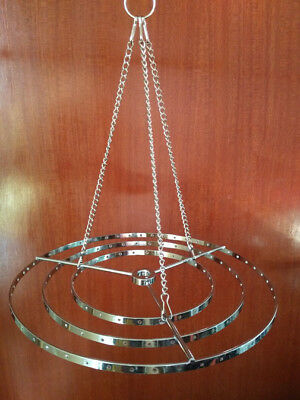 1Pcs Round Hanger Centerpiece Hanging Frame Chandelier Wedding Christmas Party