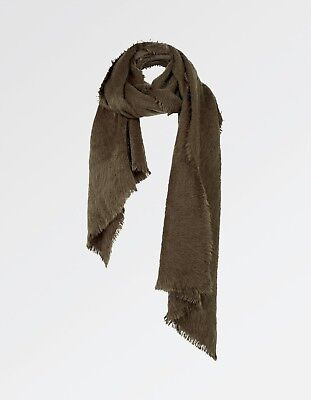 Fat Face Scarf Girls Ladies Style is Poppy Dark Green Super Soft