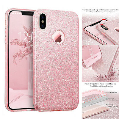 For iPhone X iPhone XS Glitter Bling Sparkle Cute Protective Phone Case Cover