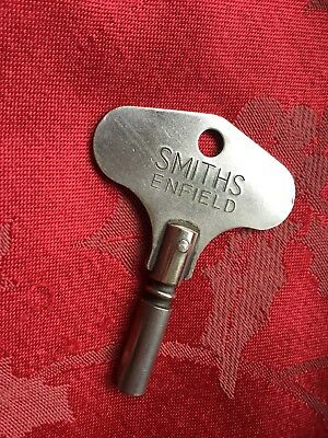 Genuine Smiths  Enfield Clock Key  Nice To Wind A Clock With Own Key Rare 3.6mm