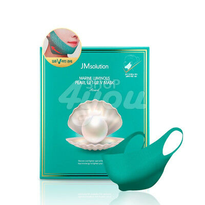 JM Solution Marine Luminous Pearl Lift-Up V Mask Pearl 25g X 10Pcs +Free Sample