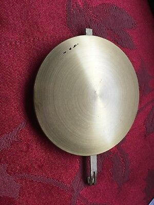 "Round Bob Brass Face Clock Pendulum 68 Grams 4 1/4""Long 3 3/16"" Dia Modern"