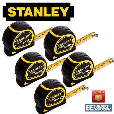 Stanley Tylon 5m / 16ft Pocket Tape Measure with 30-696 x5