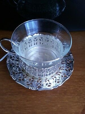 Quist of Germany Silver Cup and Saucer