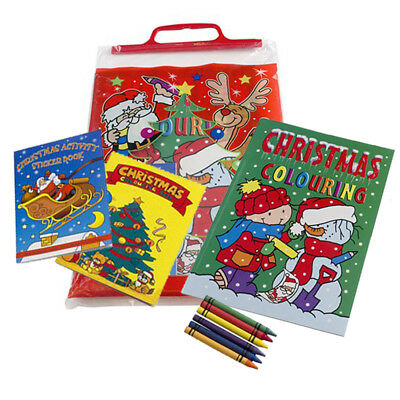 Christmas Activity Pack: 3 Activity Books & crayons Great Christmas Stocking