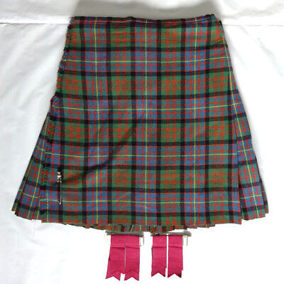 "Scottish Made 'Cameron of Erracht' 100% Wool 8 Yard Kilt, Pin & Flashes 32""/34"""