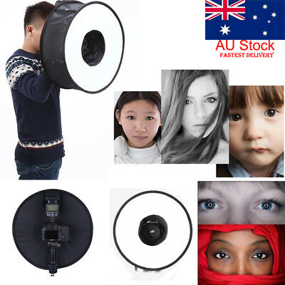 AU Flash Speedlite Softbox Diffuser 45CM Portable Studio Soft Box for Speedlight