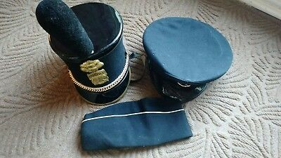 THE CITADEL PARADE HAT + PLUME + Military Cadet caps new york hollywood VINTAGE