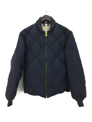 Toys Mccoy Steve Mcqueen Military Talon Zip Quilted Jacket 40 Cotton Blk (87227