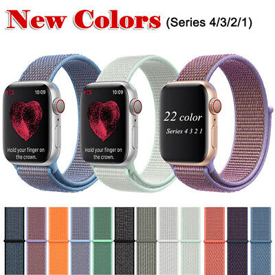Flash Sport Loop Woven Nylon Watch Wrist Band For Apple Watch series 4 40/44MM