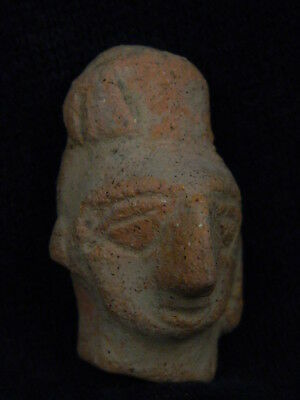 Ancient Teracotta Mother Goddess Head Indus Valley 600 BC NO RESERVE  #TR5969