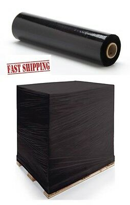 LARGE 500mm x 250m  QUALITY STRONG BLACK PALLET STRETCH WRAP SHRINK