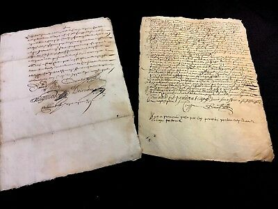 LOT OF TWO IMPORTANT MANUSCRIPTS  1660s