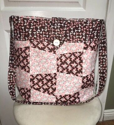 Homemade Large Cloth Crossbody Tumbler Patchwork Quilted Bag