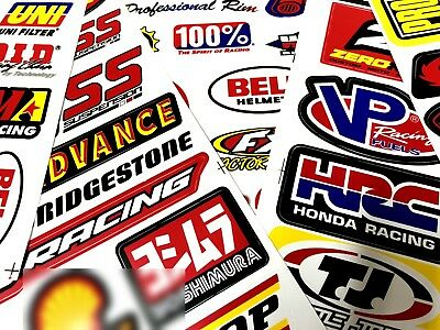 6 Sheets Mix Random Sticker Motocross Motorcycle ATV Racing Bike Helmet Decal