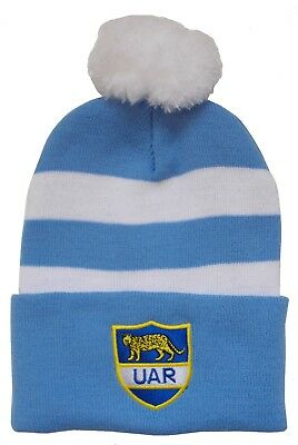 Argentina Rugby Bobble Hat - Made in the UK