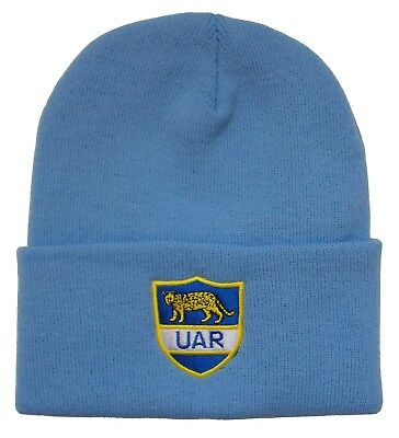 Argentina Rugby Bronx Beanie Hat - Made in the UK
