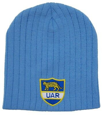 Argentina Rugby Beanie Hat - Made in the UK