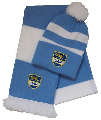 Argentina Rugby Bobble Hat and Scarf - Made in the UK