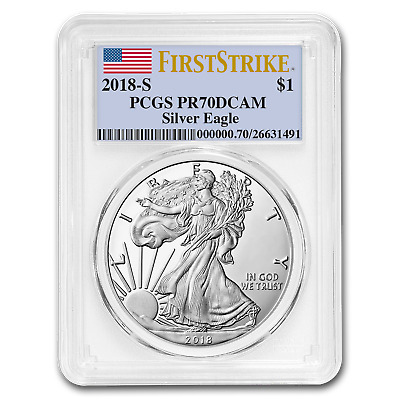 2018-S 1 oz Proof Silver American Eagle PR-70 PCGS (First Strike) - SKU#172296