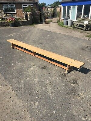 old school bench form gym bench 11 foot