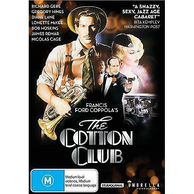 The Cotton Club Dvd, New & Sealed, 2018 Release, Region 4, Free Post