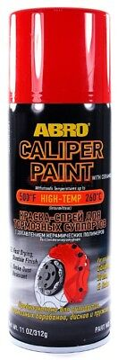 ABRO RED BRAKE CALIPER SPRAY PAINT GLOSS AEROSOL TOUGH RESISTANT FINISH 400ml