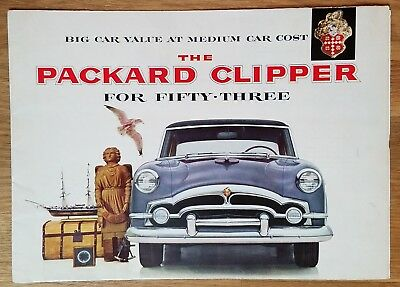 1953 PACKARD CLIPPER Sales Brochure Club & Touring & Deluxe Sedan
