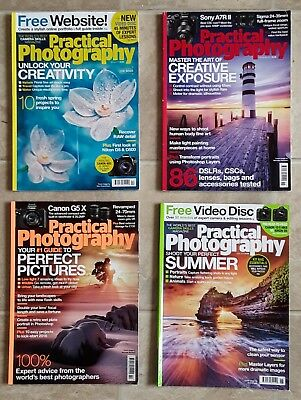 Job lot of Four Practical Photography Magazines