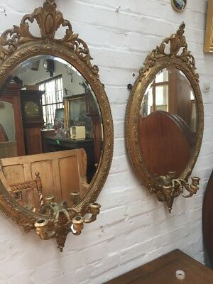 A STUNNING PAIR OF 20th CENTURY FRENCH ANTIQUE OVERMANTLE WALL MIRRORS