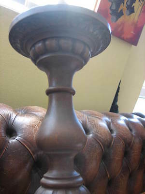 Old French Elm Wood Chandelier Sans Bulbs Hence Rewire Large Suit Dracula