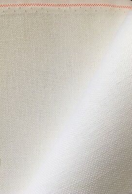 White 28 count Bantry / Quaker cloth 50 x 140 cm even weave Zweigart fabric