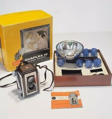 Vintage Kodal DuaFlex IV Flash Outfit Camera in Original Box - Very Nice Set