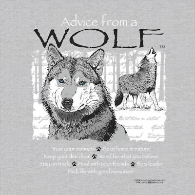 Advice From A Wolf  Adult  T-Shirt Large