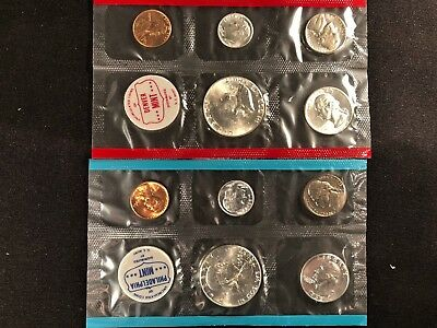 United States 1963 D & P Silver Uncirculated Set Flat Pack – 2 SETS