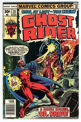 Ghost Rider (1973) #26 FN 6.0 Vs Dr Druid