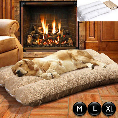 Dog Pet Cat Cage Cage House Bed Mat Pad Cushion Mattress Washable Fleece Suede