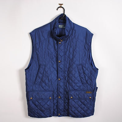 e866681188a8f2 Mens Polo Ralph Lauren Quilted Gilet Body Warmer in Blue XL X-Large