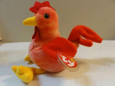 TY BEANIE BABIES BABY STRUT  the ROOSTER MWMT DOB 3-8-96 STYLE 4171 PVC