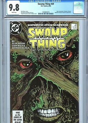 Swamp Thing #49 CGC 9.8 White Pages Alan Moore 1st Justice League Dark 1986