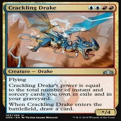 MTG MAGIC GUILDS OF RAVNICA GRN VO U 4X Crackling Drake