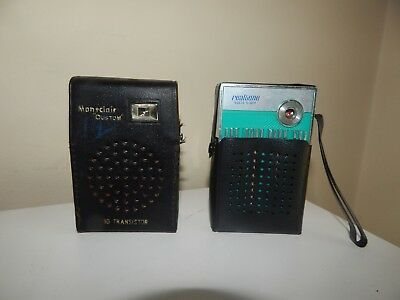Lot of two (2) Vintage Transistor Radios.....Realtone-Montclair.....
