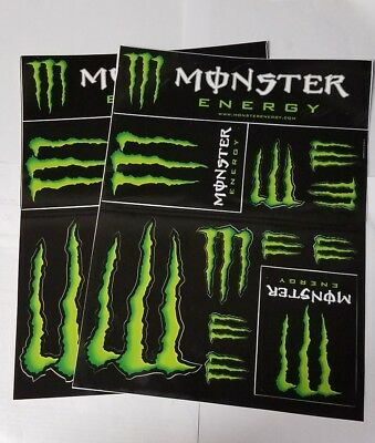 Monster Energy Drinks Logo Sheet of 12 Stickers Decals X2