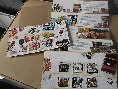 The Beatles Royal Mail Mint Stamp Collection 2007 Collectors
