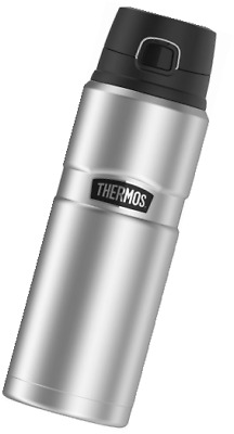 Thermos Stainless King Beverage Steel Bottle Insulated Vacuum 40 oz. Matte Black